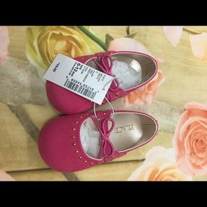 Children's Place Girls pink lace ballet shoes NWT